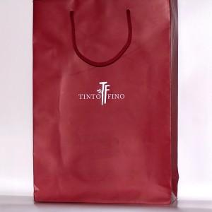 Zsinórfüles papír reklámtáska - Tinto Fino