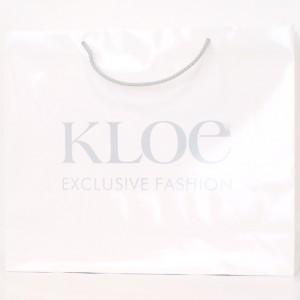 Zsinórfüles papír reklámtáska - Kloe